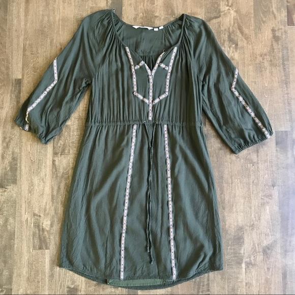 9e302d250397 Anthropologie Dresses & Skirts - edme and esyllte anthro peasant boho green  dress